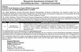Jobs in Sindh Resilience Project 2021