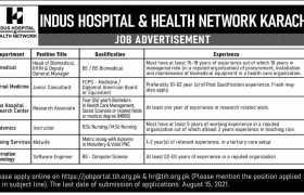 Indus Hospital Karachi Jobs 2021