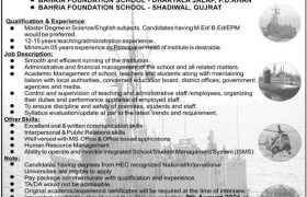 Bahria Foundation Jobs 2021
