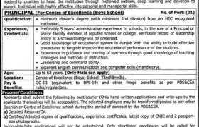 Center of Excellence Boys School Jobs 2021
