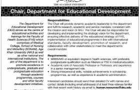 The Aga Khan University Karachi Jobs 2021