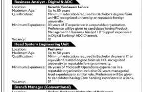 Bank of Khyber Careers 2021