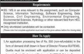 Jobs in BUITEMS Quetta 2021