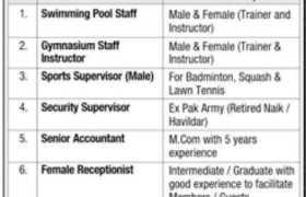 Jobs in North Nazimabad Gymkhana Trust 2021