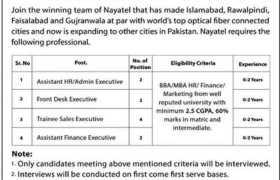 Nayatel Walk-in-Interviews Multan 2021