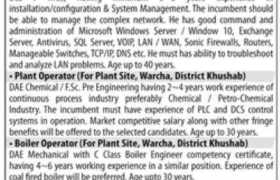 Jobs in Olympia Chemicals Limited 2021
