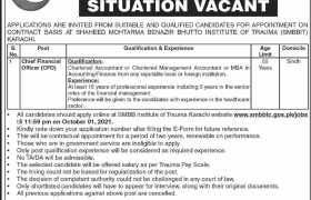 Jobs in SMBBIT Karachi 2021