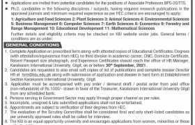 Karakoram International University Gilgit Jobs 2021
