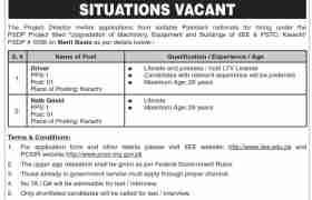 Jobs in Pak Swiss Training Centre Karachi 2021
