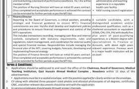 Jobs in MTI Nowshehra 2021