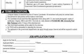 Govt Organization Jobs in Peshawar 2021