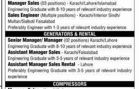 Jobs in Greaves Pakistan Private Limited 2021