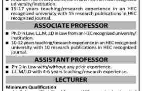 Jobs in Islam Law College Sialkot 2021