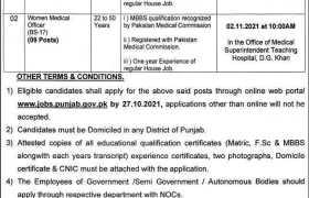 Jobs in Teaching Hospital DG Khan 2021