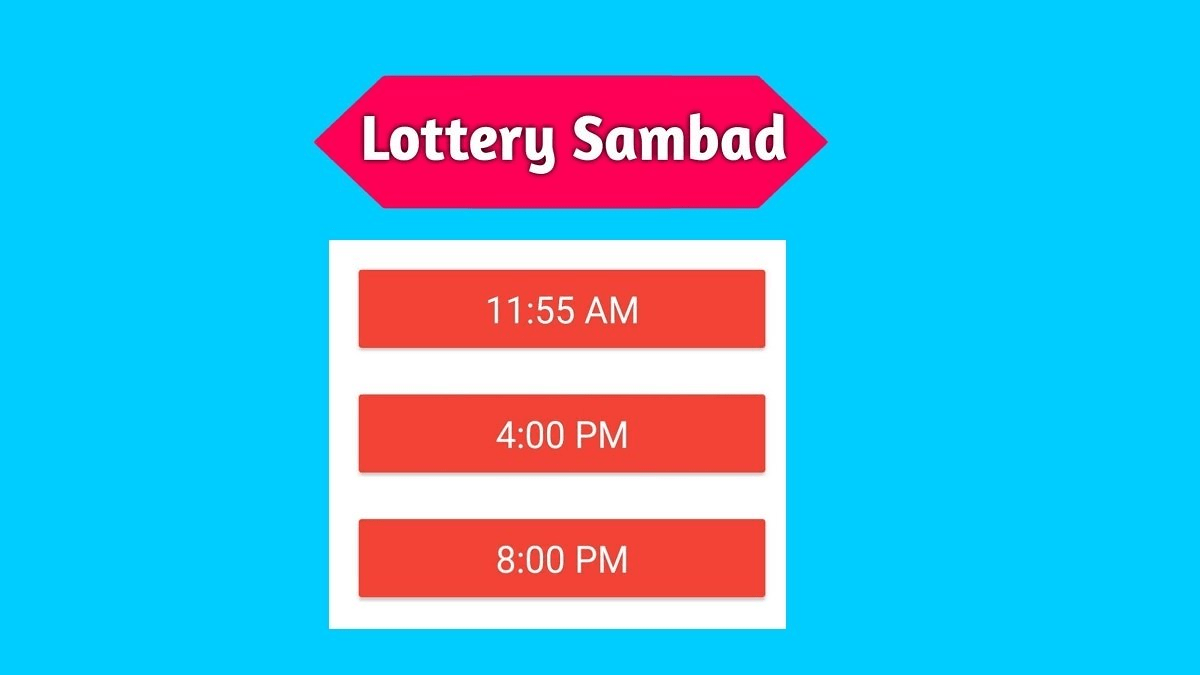 Lottery Sambad 16 Tarik Today Result Live 16.05.2021 11:55AM, 4PM, 8PM