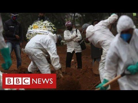 Brazil struggles with coronavirus disaster as President exams optimistic for illness – BBC Information