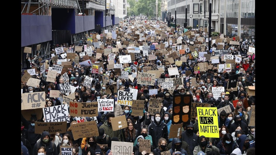 Hundreds be a part of anti-racism demonstrations throughout the UK – BBC Information