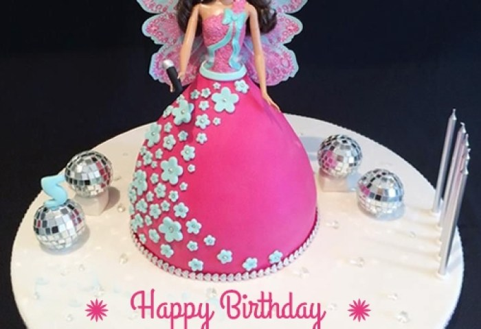 Barbie Doll Cake With Name