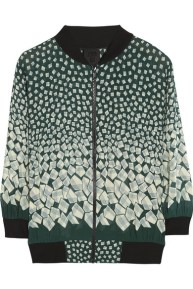 ANNA SUI Letters printed georgette bomber jacket http://goo.gl/B1haun