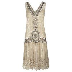 Jigsaw Sequin Flapper Dress, Oyster http://bit.ly/JGaKiE