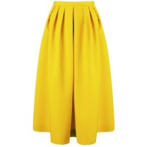 Antonio Marras Yellow Wool Midi Skirt tiny.cc/7t9p9w