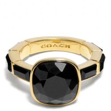 COACH Cushion Cut Stone Ring