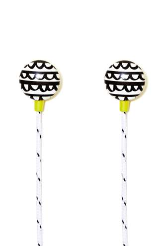 EARBUDS | Ban.do Frills Ear Buds, $22 from nastygal.com