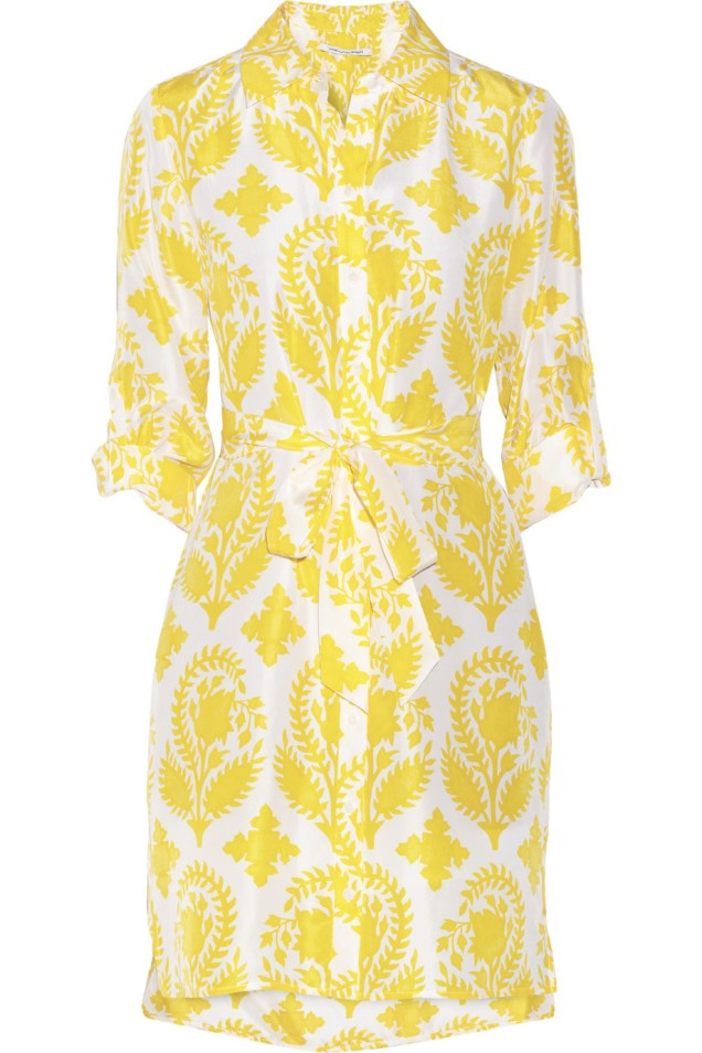 23. SHIRTDRESS | DIANE VON FURSTENBERG Vera printed silk-habotai shirt dress, from net-a-porter.com