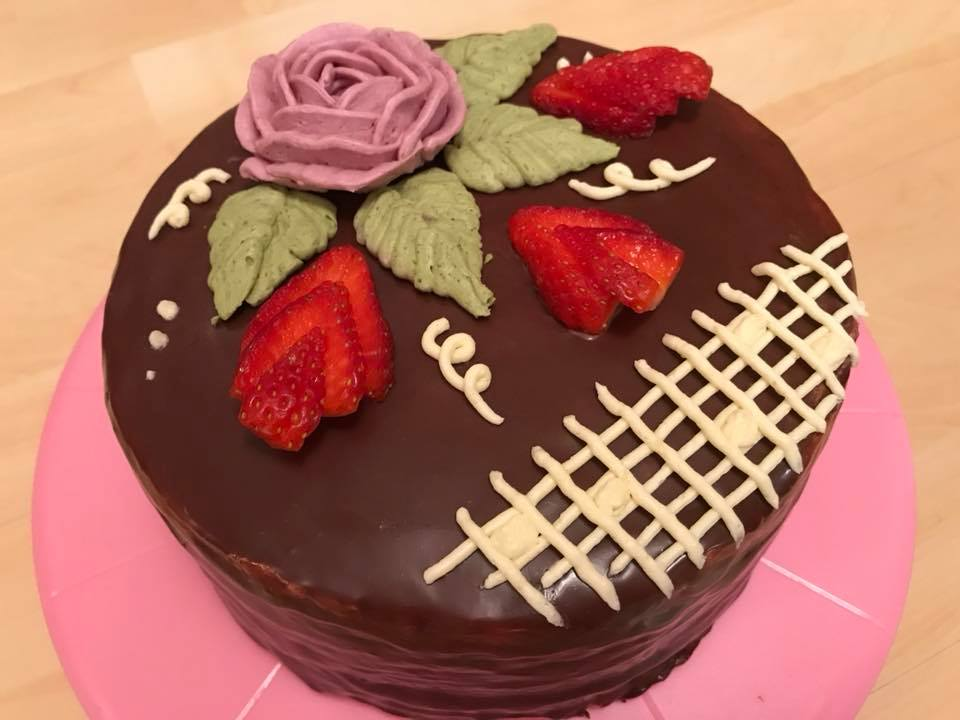 bezlepkový bezmléčný dort