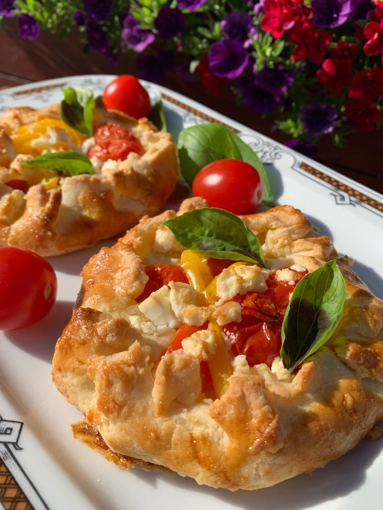 Gluten free galettes with vegetable