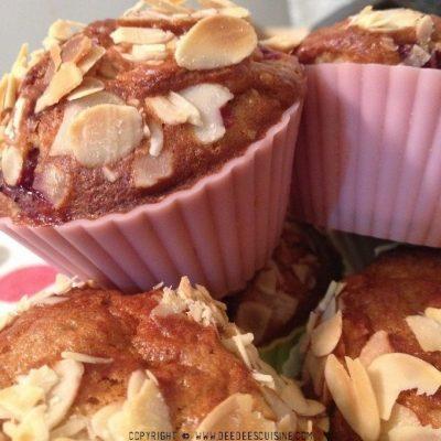 Muffins fruits rouges et amandes