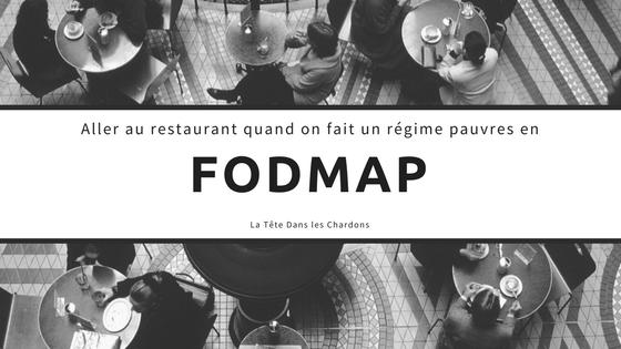 FODMAP: Aller au restaurant