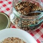 granola chocolat sesame recette petit dejeuner