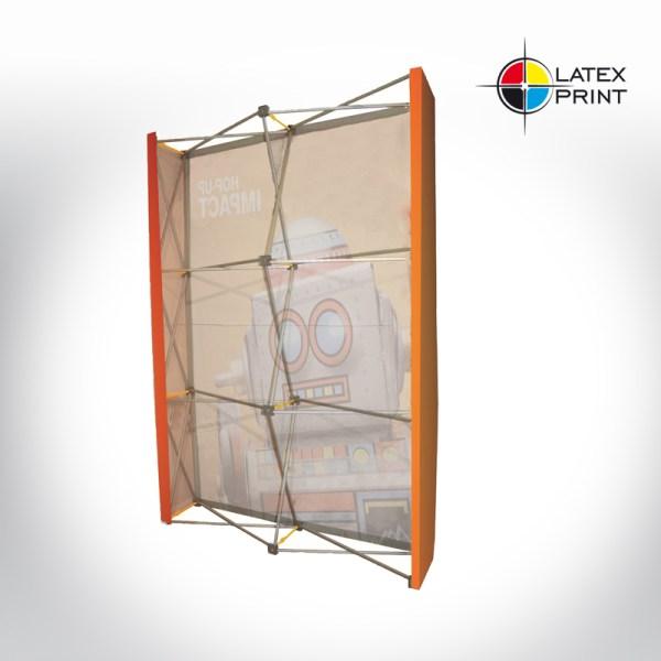 ścianka prosta tekstylna typu popup hopup