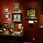 Spring Show display of Latham paintings at Whistle Pik Galleries in Fredericksburg, TX