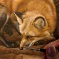 Wildlife watercolor painting bu Rebecca Latham