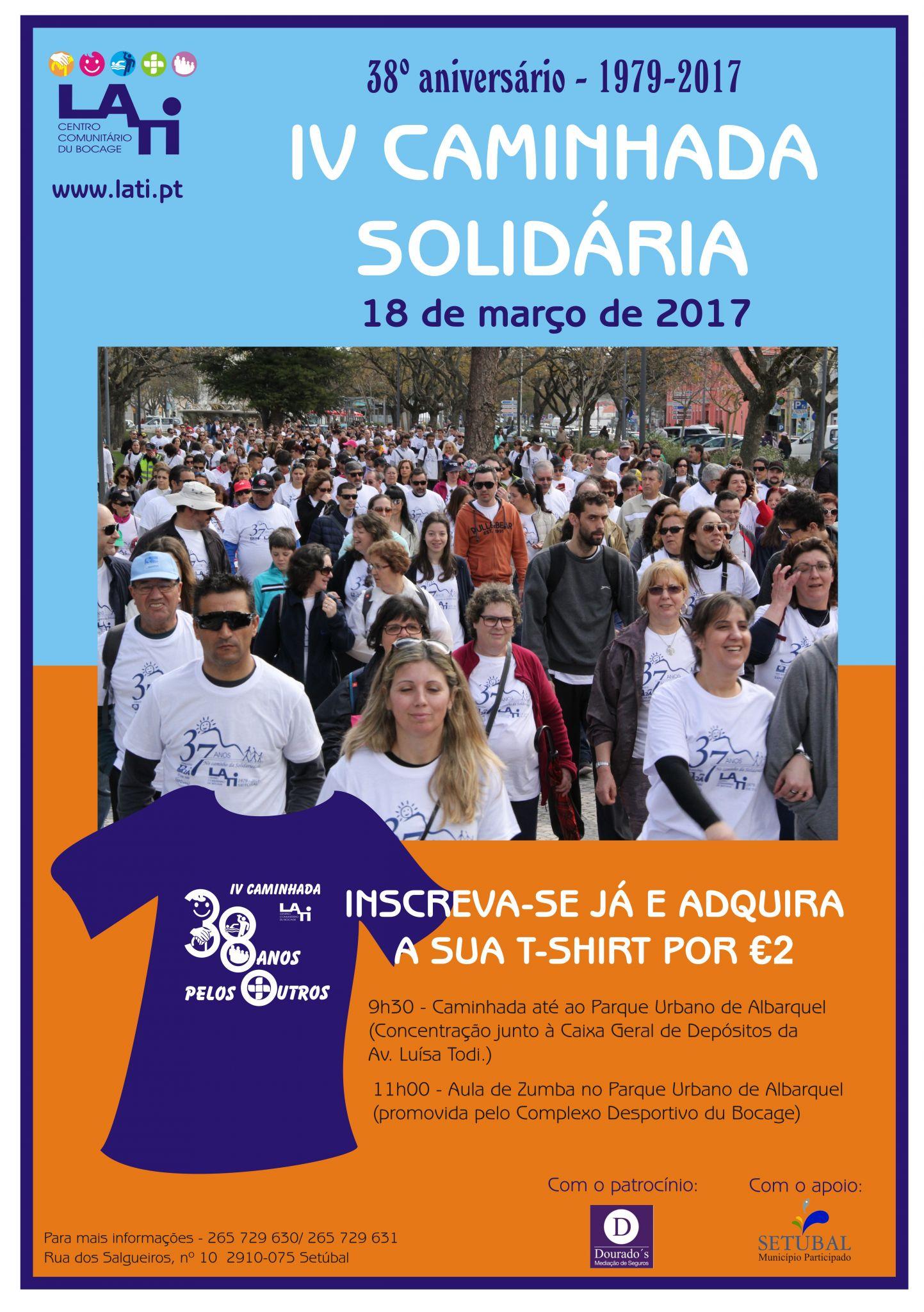 Inscreva-se já na IV Caminhada Solidária