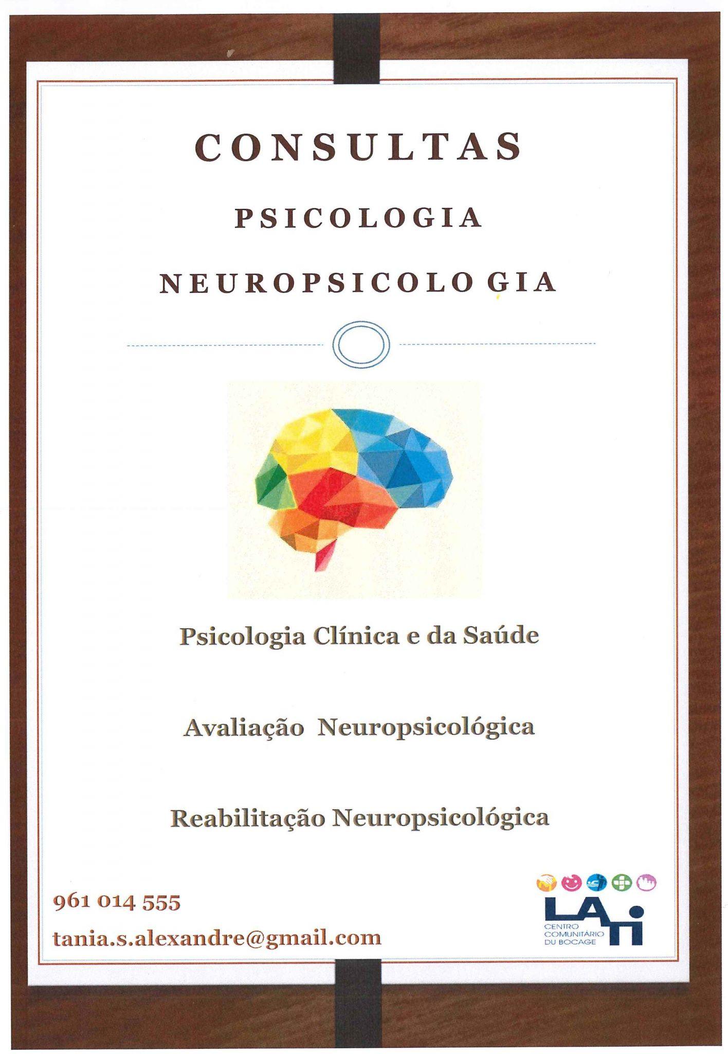 Consultas de Psicologia e Neuropsicologia na LATI