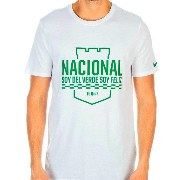 8cbdd2123cede Atlético Nacional 2016 Camiseta Nike blanca Soy Del Verde Soy Feliz ...
