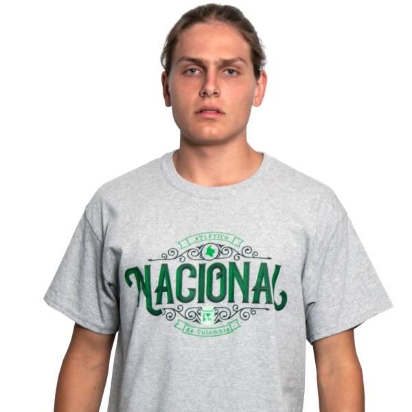 Camiseta gris Atlético Nacional de Colombia  93b2def9092