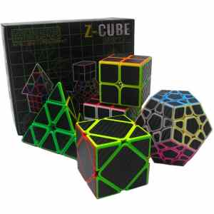 Z cube sets with carbon stickers (5pcs)