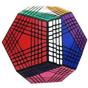 Lefun Shengshou Petaminx Cube Black 9x9 Megaminx