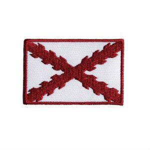 Bordado «España Antigua» con Cruz de Borgoña  borde granate