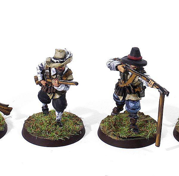 Pack 4 Mosqueteros Mercenarios Orange-Nassau