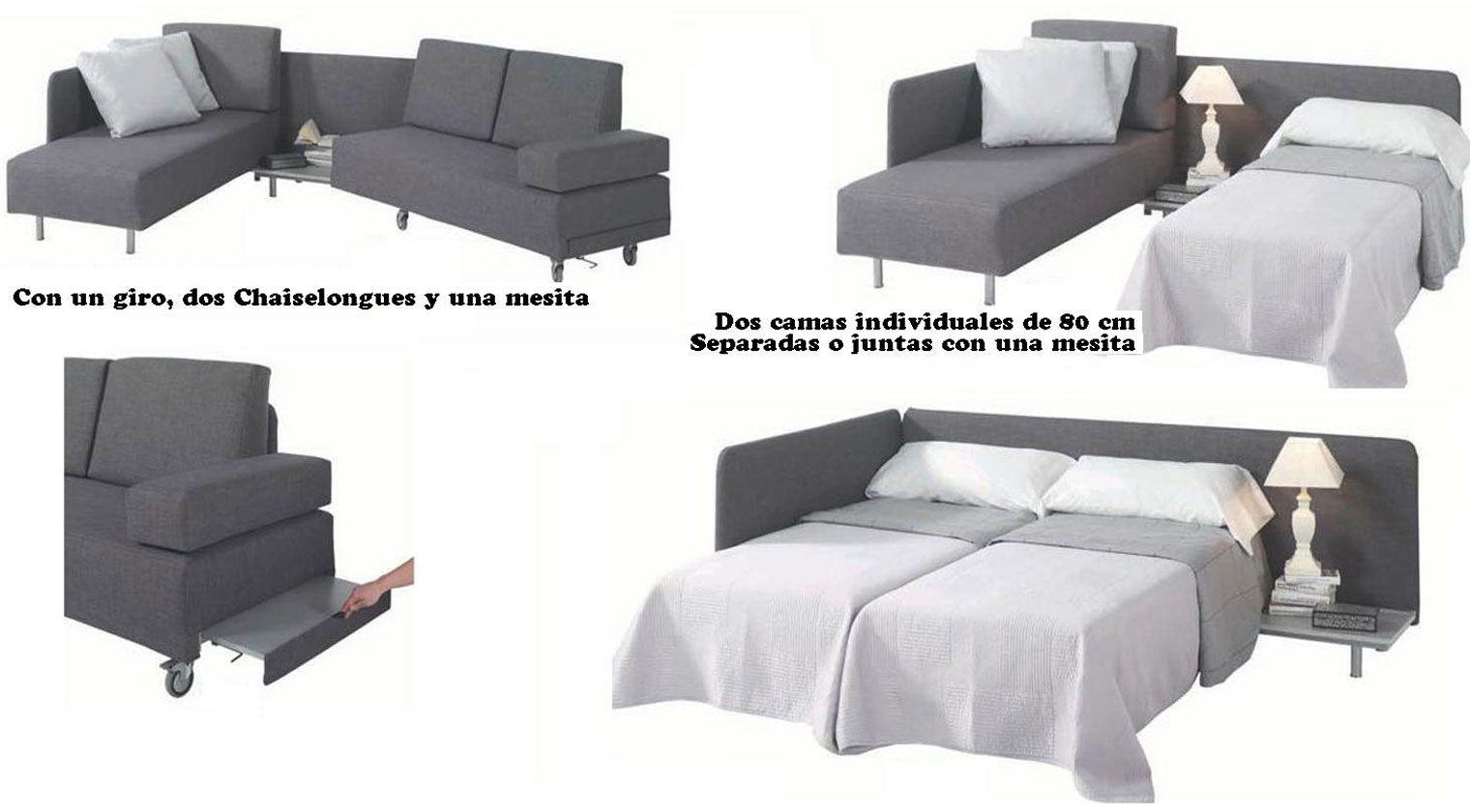 Sofa Chaise Longue Marron