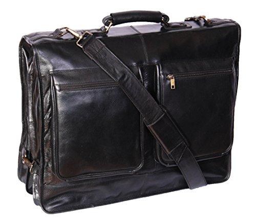 Portatrajes de cuero de The House of Leather, modelo Canico.