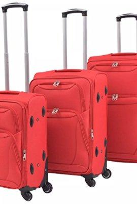 Conjunto de tres maletas semirígidas Festnight.