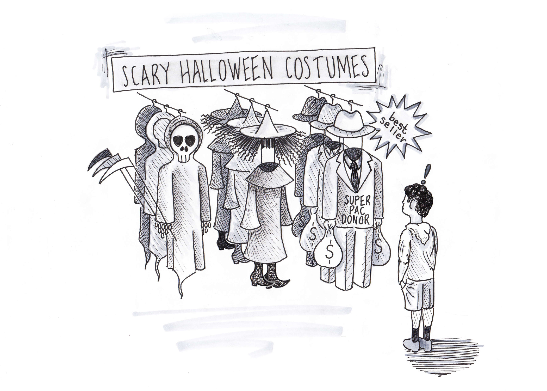 Cartoon Of The Week 9 Scary Halloween Costumes Hs Insider