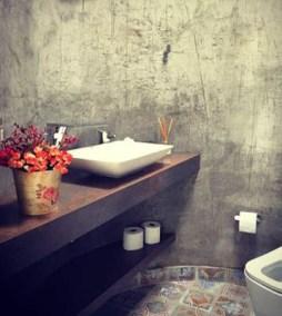 Bancada de banheiro recorte curvo com cuba em louça