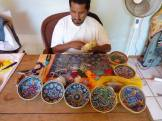 Huichol Prayer bowl - creation process